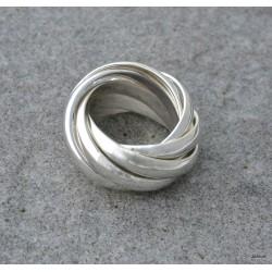 Bague multi anneaux en argent