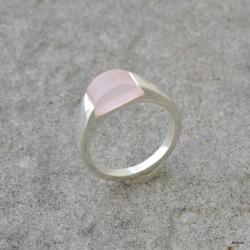 Bague en argent et quartz rose